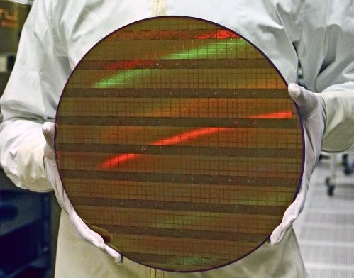 Un wafer gravé en 45 nm