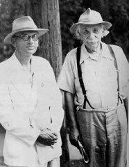 Kurt Gödel avec un jardinier inconnu